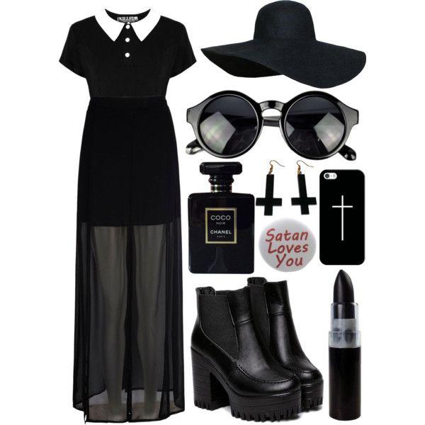 Van helsing? by viv-luvz-ya on Polyvore featuring polyvore, fashion, style, Mela Loves London, Humör, Chicnova Fashion, Casetify, Chanel, black, vampire, cross and VanHelsing