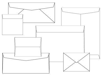 Best Sizes For Invites And Envelopes Images On