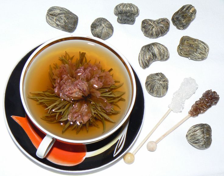 Scented Tea (花茶) consist each of a bundle of dried #tea #leaves wrapped around one or more dried #flowers. These are made by binding tea leaves and flowers together into a #bulb and are then set to dry. When #steeped, the bundle expands and unfurls in a process that emulates a #blooming #flower, while the flowers inside emerge as the #centrepiece. Typically they are sourced from the Yunnan province of #China.