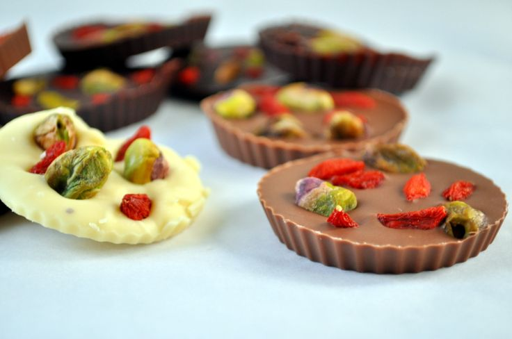 Gift idea: homemade chocolates with nuts and berries (and whatever else you feel like adding)