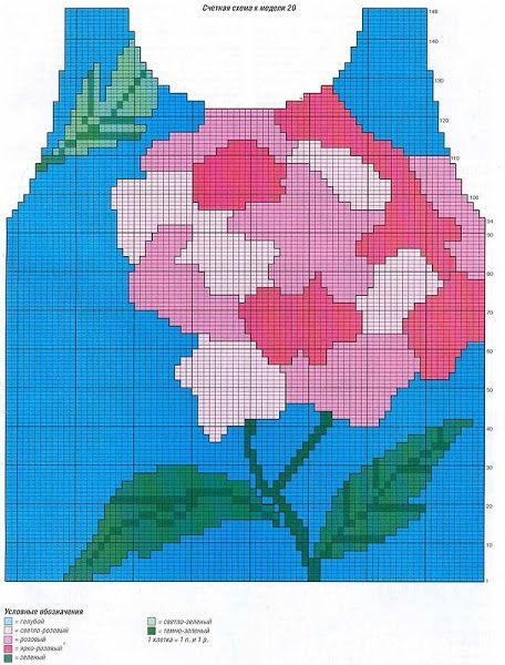 Flower intarsia sweater pattern