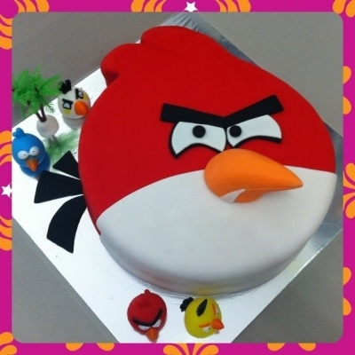 Angry Bird Cake By Mawar on CakeCentral.com