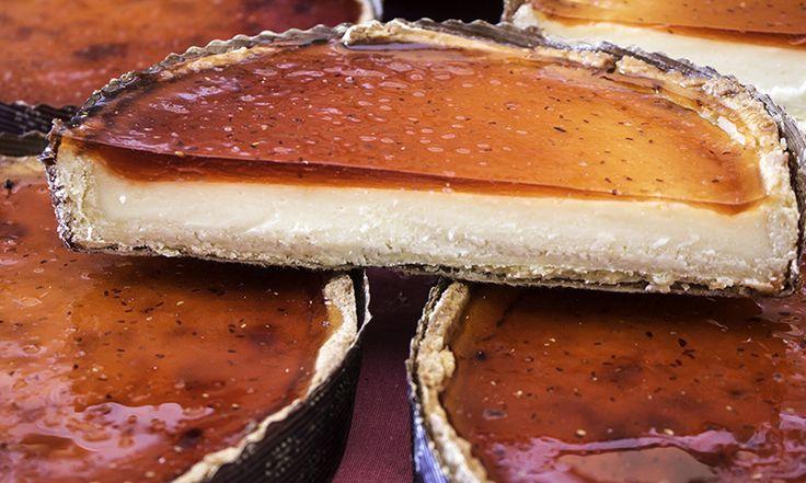 Receta de tarta de queso al horno a la gallega  | https://lomejordelaweb.es/  Pinterest ^^ | https://pinterest.com/Ilovecocinar/