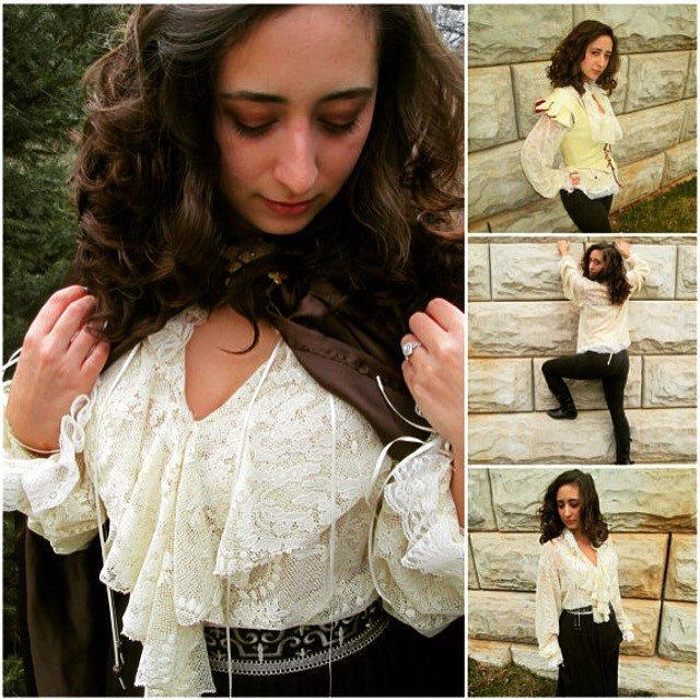 New lace blouse available in multiple colors and sizes. Order yours today :).