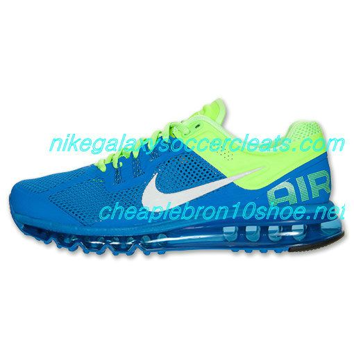 Nike Air Max 2013 Mens Prize Blue Reflective Silver Lime 554886 403