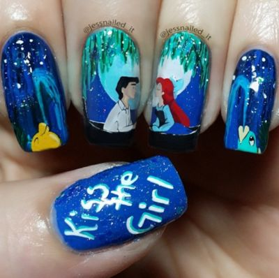 The Little Mermaid nails!