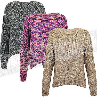 #Ladies womens soft #knitted #multi colour jumper top knit short ,  View more on the LINK: http://www.zeppy.io/product/gb/2/221282060298/