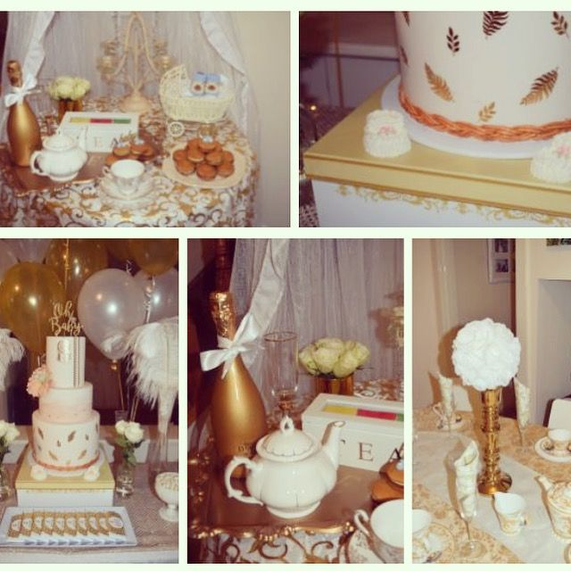 Gold and white boho inspired baby shower high tea styling by www.tickledpinkcelebrations.com.au
