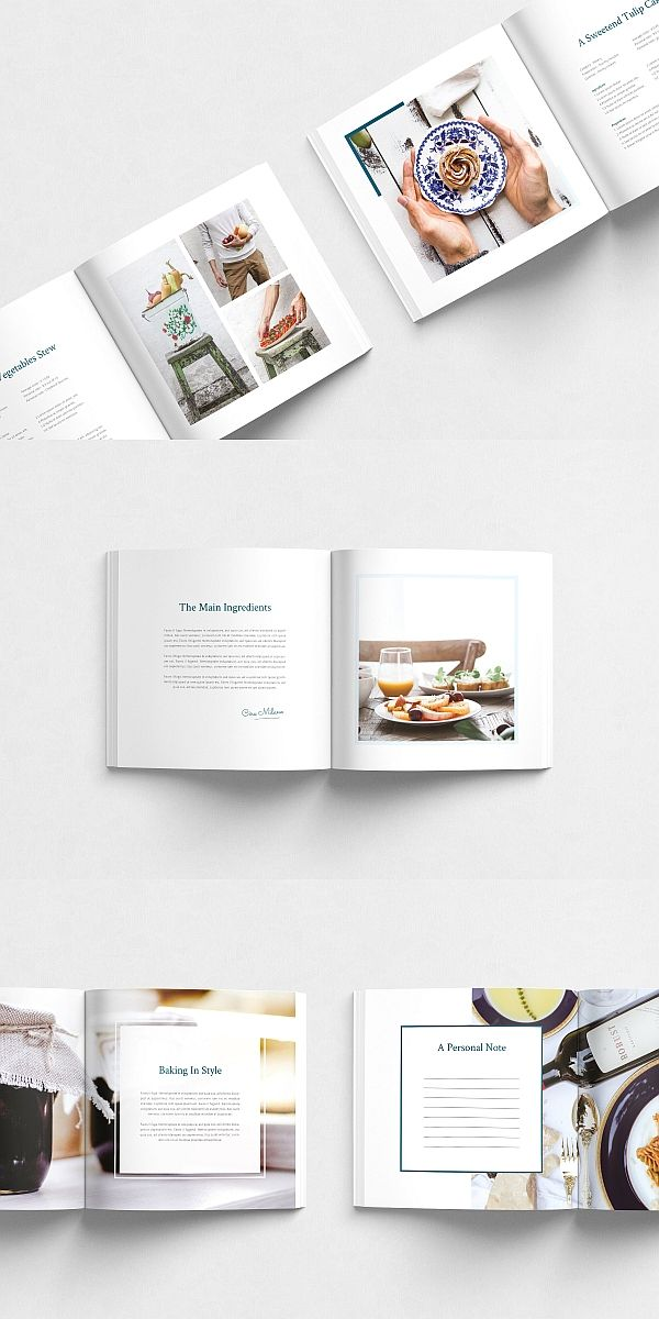 Venice Brochure Recipe Book Design Booklet Layout Page