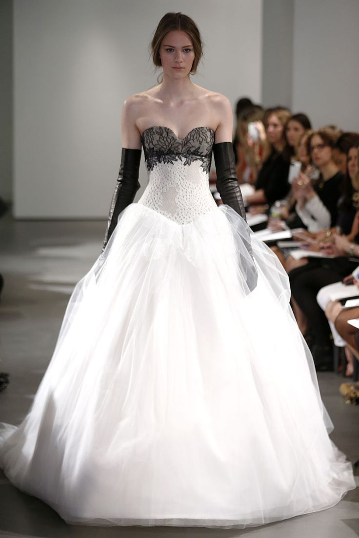 Cool Fotos de Pasarela Vera Wang Wedding DressesWhite
