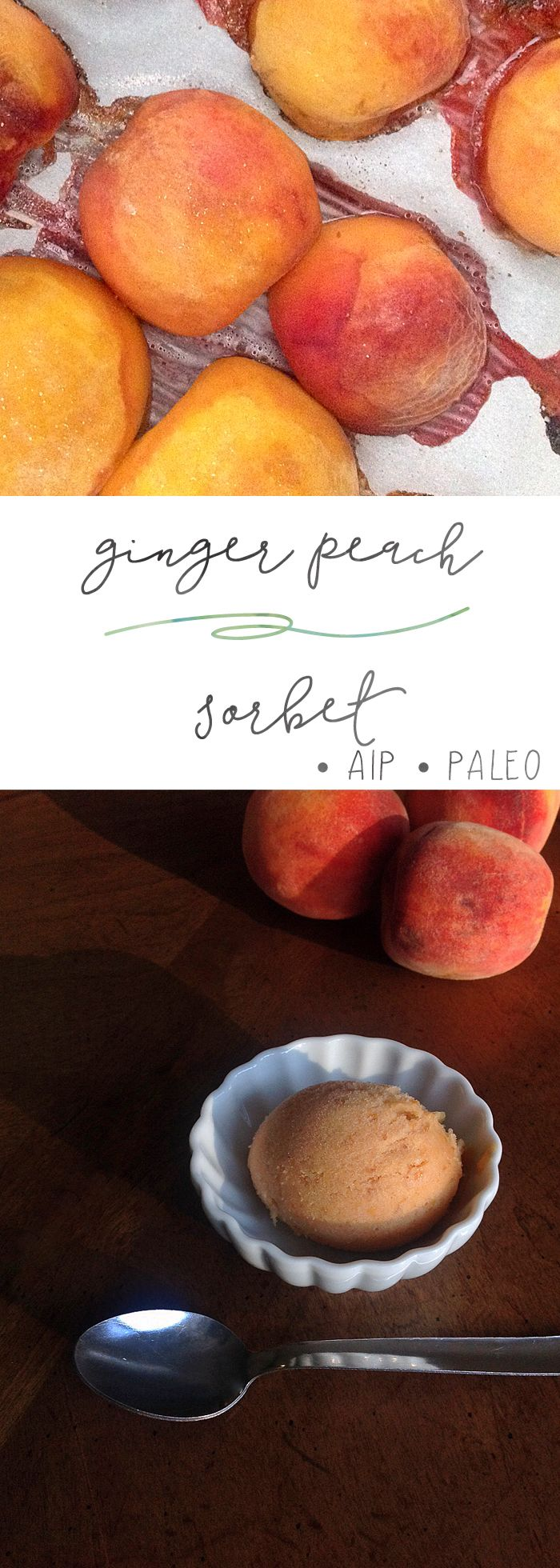 Ginger Peach Sorbet | Enjoying this Journey...