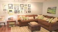 Trendy Wall Decored Above Couch Basements Ideas – …