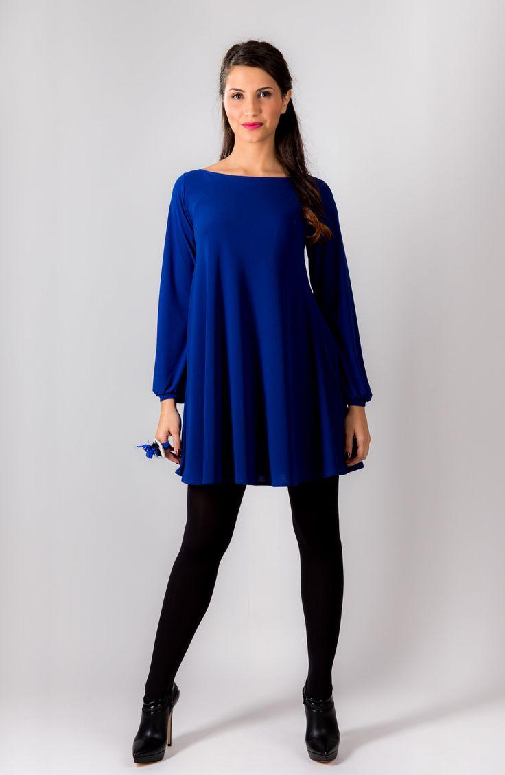 φορεμα σε μπλε χρωμα just simple