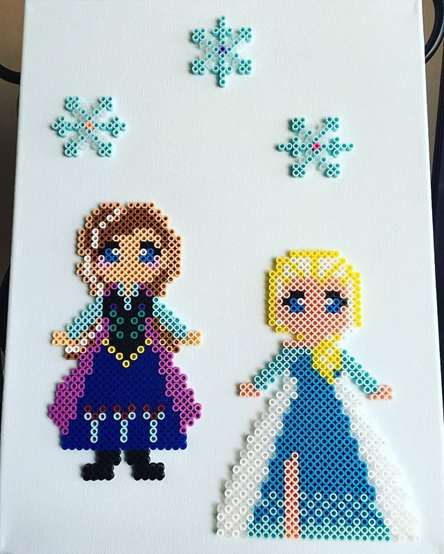 Frozen hama beads by fredlesk