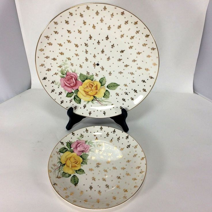 Weatherby Hanley Royal Falconware Double Serving Plate Roses No Plate Stem Fluer #WeatherbyHanley