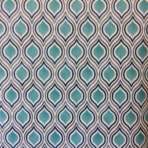 fine decor a street print plume retro wallpaper, retro paste the wall wallpaper, blue/teal retro wallpaper