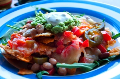 Healthier than usual: Nachos.   by Hungry & Poor    Really great sight for those on a budget and looking for simple and easy.