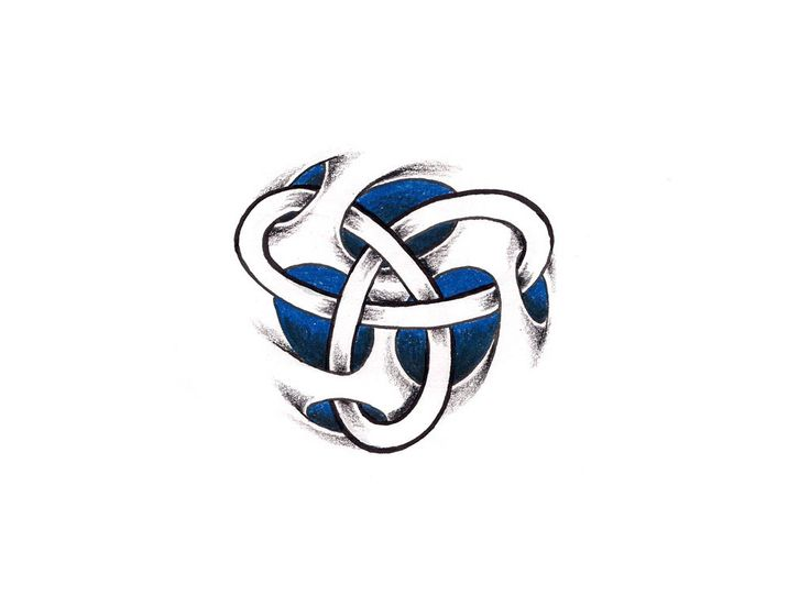 Free designs - Abstract celtic knot in blue tattoo wallpaper