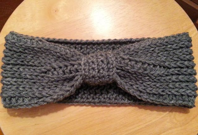 Free Crochet Patterns For Men s Ear Warmers : Crochet from J: Ribbed Bow Ear Warmer Pattern Crochet ...