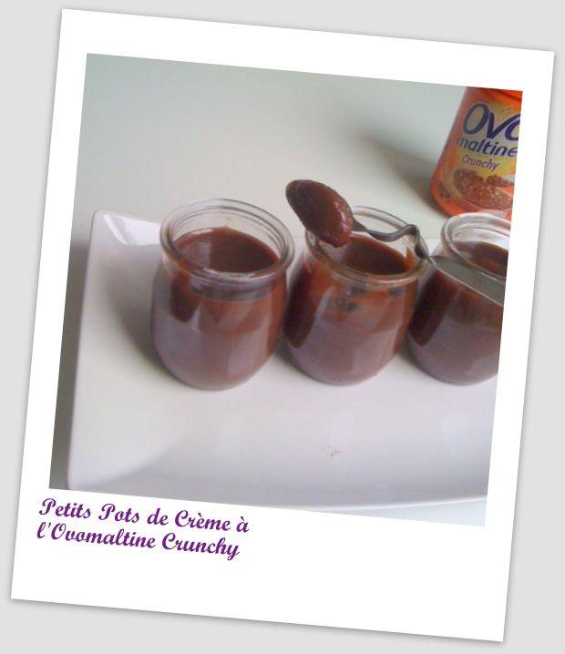PETITS POTS DE CRÈME A L'OVOMALTINE CRUNCHY :: Sweety Cooking