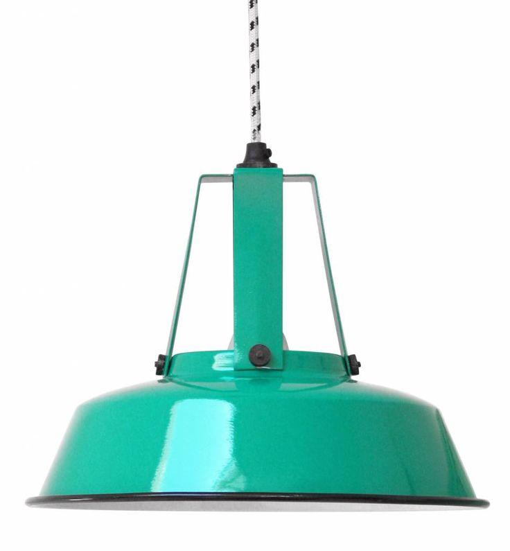 "HK-living Pendant light jade green metal Ø45cm, Industrial Lamp ""Workshop"" L"