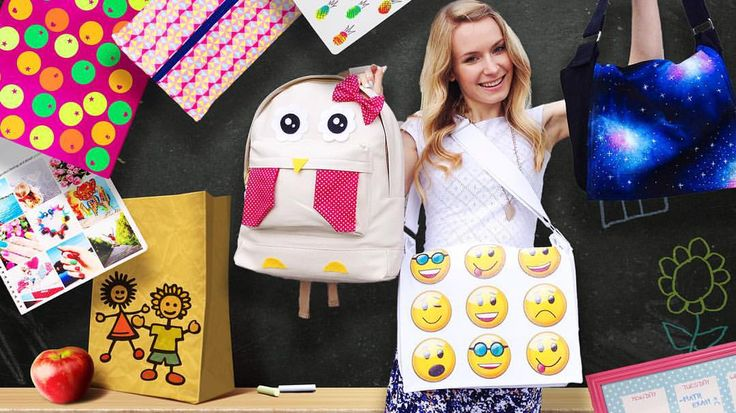 It's up! 15 DIY school supplies & room organization ideas School bags, backpack, notebooks, pencil case, planner / erase board, binder, desk decorations and more ✏️ So much work has gone into it and I love how it turned out Hope you like it too, loves