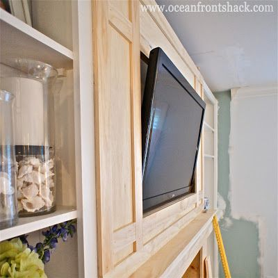 Framing a TV over the Fireplace {tutorial}