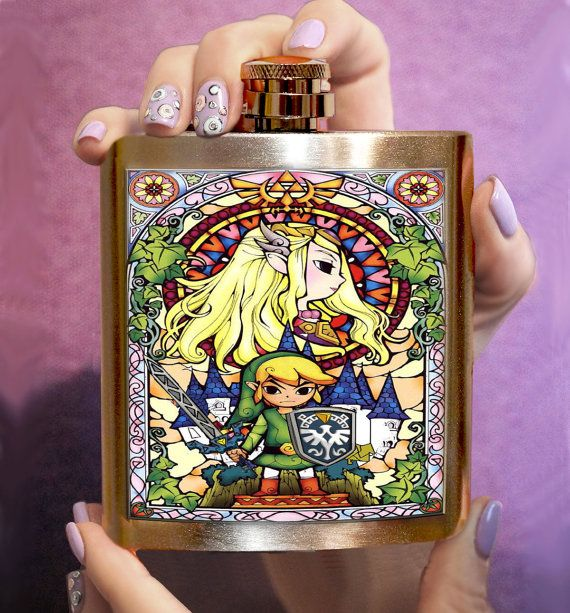 FLASK ZELDA Personalized Flask Hip Flask Funny flask Unique gift handmade flask men hip flask The perfect present! Perfect for the Zelda fan! Flasks are brand new stainless steel that hold six ounces of your favorite drinks. These flasks fit perfectly in your pocket or purse. Needful as for everyday life and for holiday! Perfect for bridesmaids, groomsmen, friends, birthday presents, stocking stuffers and exactly for yourself. Flasks are unique handmade creations. Each design is…