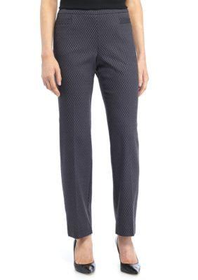 Kim Rogers Women's Petite Size Jacquard Millennium Pant - Average - Black/Purple - 16P