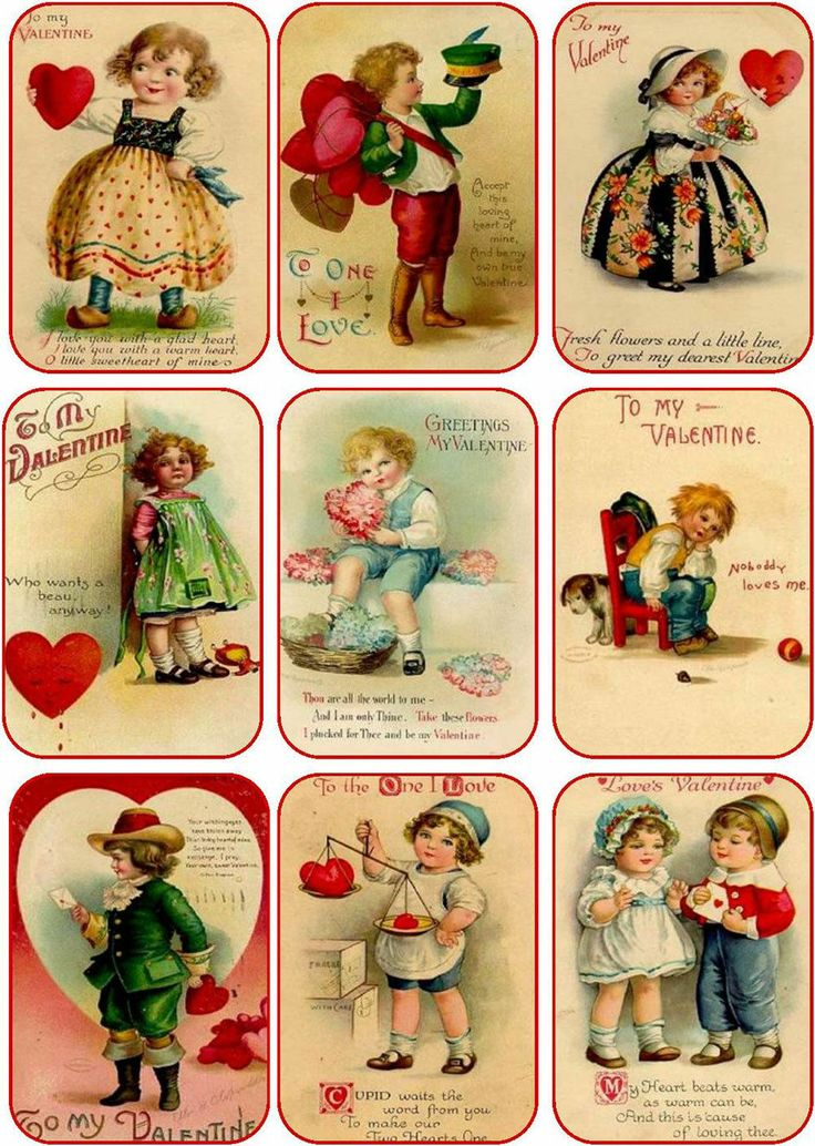 375 best Vintage Valentine Images images – Vintage Valentine Cards to Print