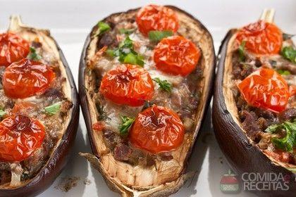 Receita de Berinjela recheada à provençal em receitas de legumes e verduras, veja essa e outras receitas aqui!