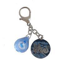 Feng Shui Water Drop Keychain Dragon Flying Though Cloud W1700