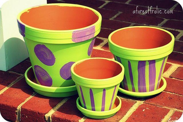 Painted clay pots ideas painting flower pots ideas paint pots