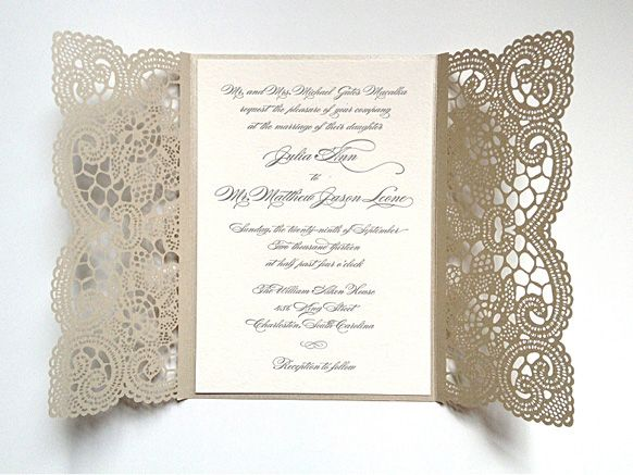 Studio R Lace Inspired Invitation