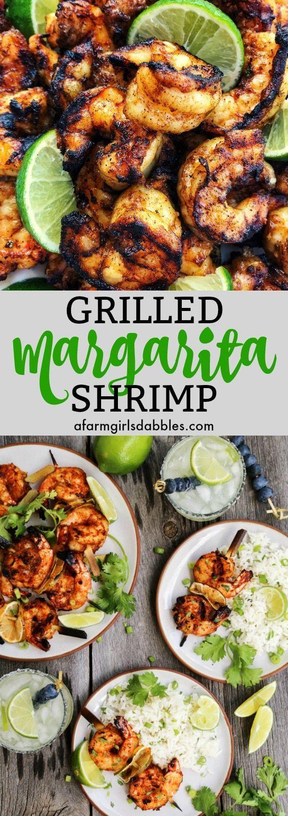 Hochzeitsessen | Gegrillte Margarita Shrimps von afarmgirlsdabbles … – Gegrillte …   – HEALTHY LUNCHES