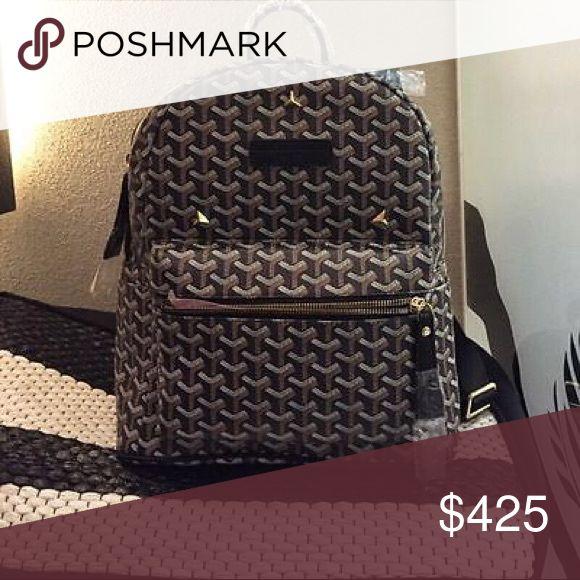 Black GoYard BackPack Perfect Condition. Black with black and white print. Goyard Bags Backpacks