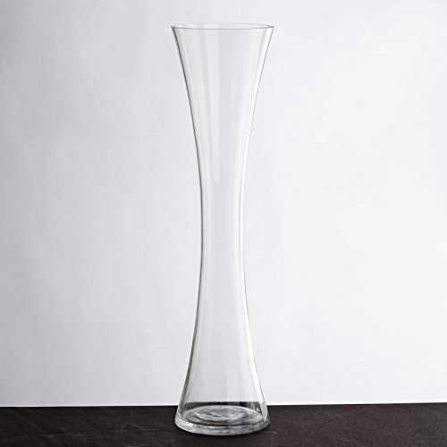 Balsacircle 6 Pcs 20 Tall Clear Glass Hourglass Vases For Wedding