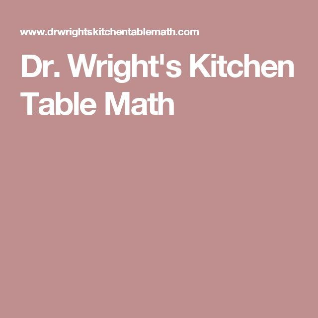Dr wrights kitchen table math all about the numbers123 dr wrights kitchen table math all about the numbers123 pinterest math workwithnaturefo