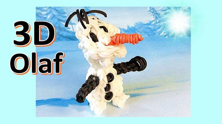Rainbow Loom Charms: 3D Olaf Rainbow Loom Charm: Frozen | Loom bands ins...