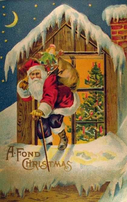 Joulun kuvitus - Vintage kuvia - A Fond Christmas