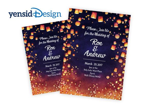 Disney Tangled Wedding Invitations AVAILABLE AS by YensidDesign