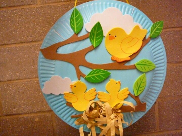 Sencilla manualidad hechos de foami decoraci n primavera for Decoracion primavera manualidades