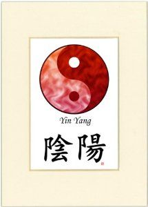 "5x7 Yin Yang (Red/Red) and Calligraphy Print with Ivory Mat by Oriental Design Gallery. $9.45. High resolution prints on high quality glossy paper. Print size is 5"" x 7"", Mat Opening is 3"" x 4 1/2"".. Made in USA. Each print is mounted on acid-free mat board by using acid free adhesive. This is a Yin Yang Print with traditional Chinese Calligraphy. These prints are created by using the finest digital printer using photo ink to prevent fading. We use fine glossy paper..."