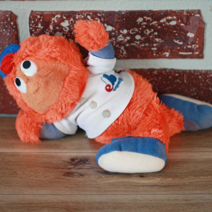 Peluche de Youppi des Expos, Youppi jouet, Mascotte Expos, MLB mascotte, Montreal Expos, Youppi 1980, 80s enfant, cadeau sportif de la boutique PastelEtPixel sur Etsy