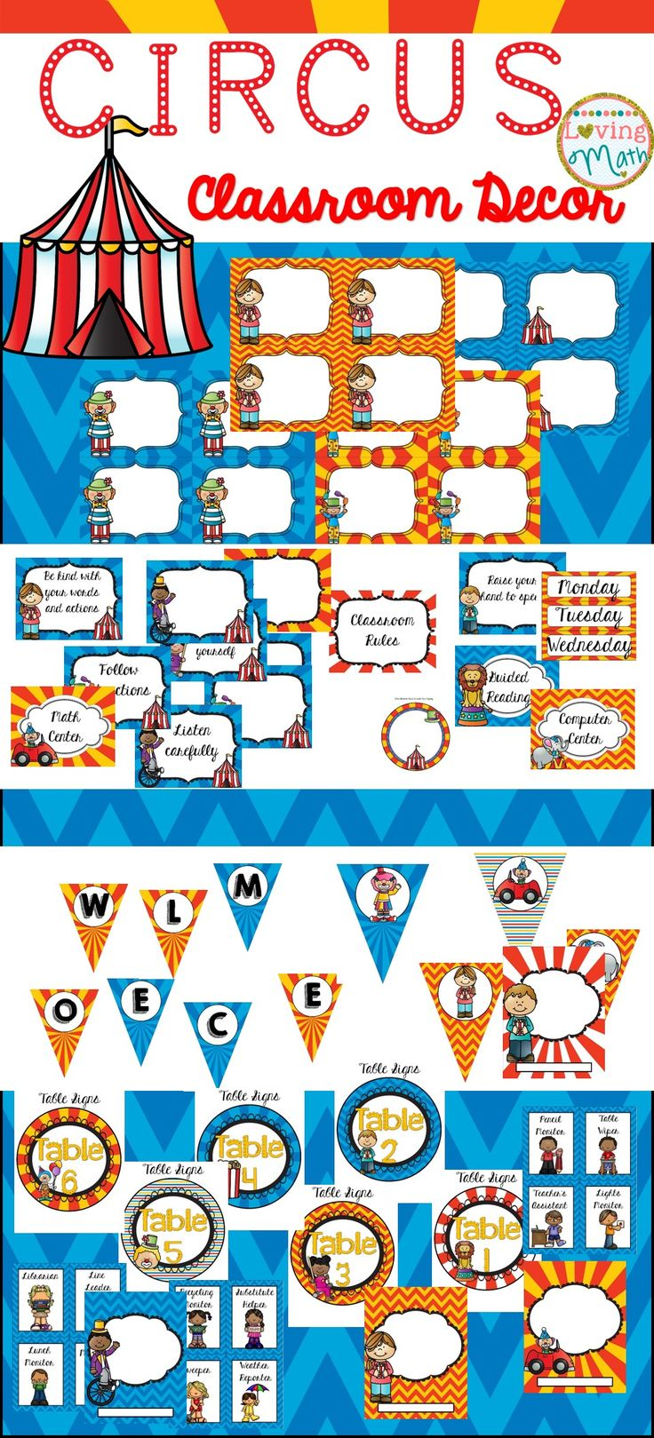 Circus Classroom Decorations ~ The best circus theme classroom ideas on pinterest