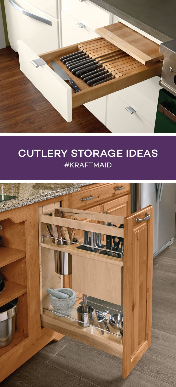 There are many ways to store cutlery in your kitchen. Here are a few ideas to help you create a functional space that makes sense for how you work in your kitchen.