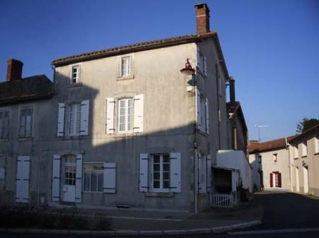 Village House for sale in Niort, France : Bargain Buy 155m² Village House on Three Floors Within Walking Distance of Bakery. Very large, needs redecorating. No garden. Can be reduced in price (owned by Parisians as a holiday home).