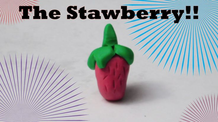 How to make a clay strawberry!!!