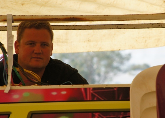 MTHATHA - Etienne, one of our Sound Engineers, hard at work during the crusade.