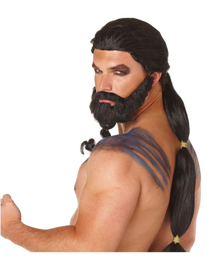 game of thrones khal drogo wig beard - Halloween Beard Costume Ideas